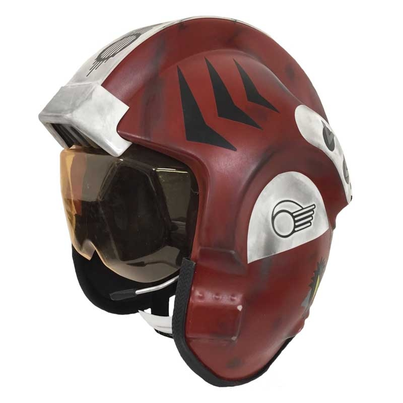 Star Wars X-Wing Pilot Helmet - Replica Red Four - Weathered
