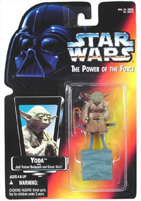 Star Wars Action Figure - Yoda with Jedi Trainer Backpack and Gimer Stick
