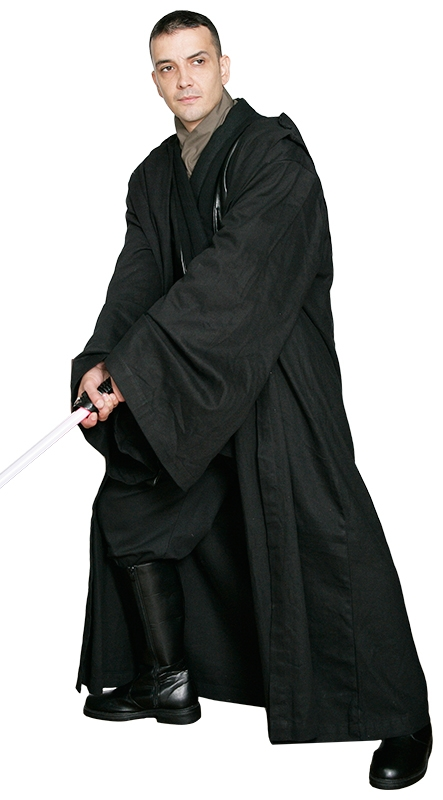 Star Wars Sith / Jedi Robe ONLY - Black - Excellent Quality
