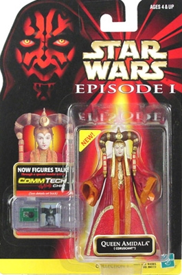 Star Wars Action Figure - Queen Amidala (Coruscant) - CommTech Chip