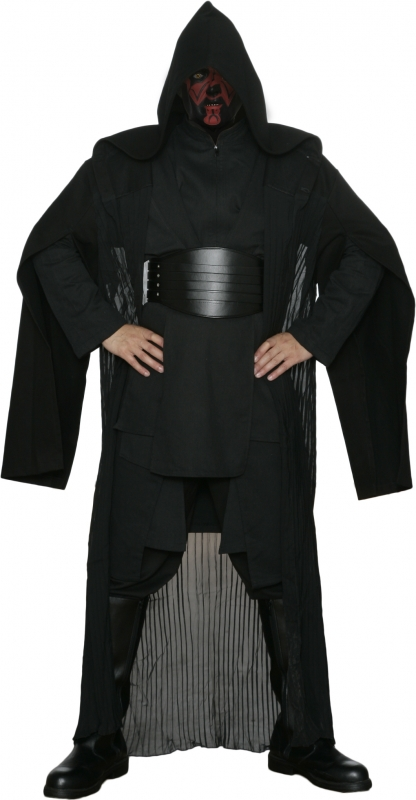 Star Wars Replica Darth Maul Black Sith Costume including Robe and Belt