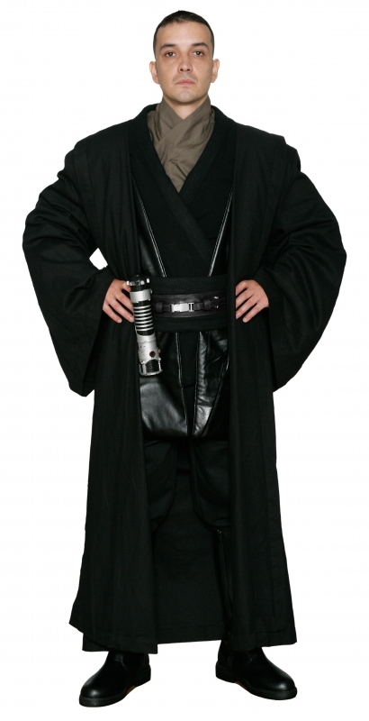 * Star Wars Anakin Skywalker Sith Costume - Body Tunic with Replica Black Sith / Jedi Robe