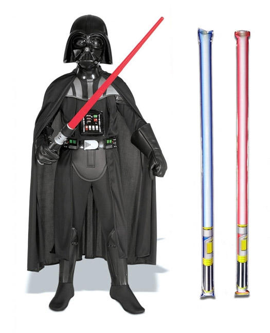 Star Wars Costume Deluxe Child - Darth Vader - WITH x2 FREE LIGHTSABERS
