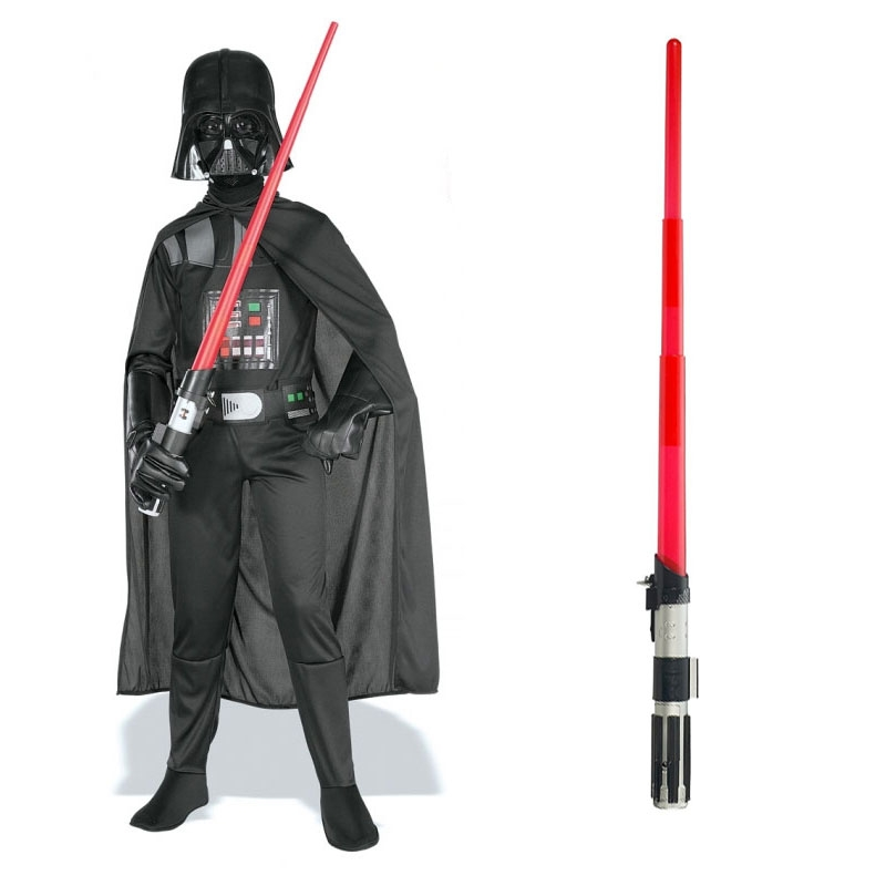 Star Wars Costume Child Lightsaber Bundle - Basic Darth Vader