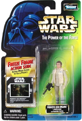 Star Wars Action Figure - Princess Leia Organa in Hoth Gear with Blaster Pistol - Freeze Frame Action Slide