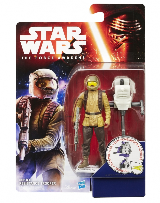 Star Wars Action Figure - The Force Awakens - Jungle Space - Resistance Trooper