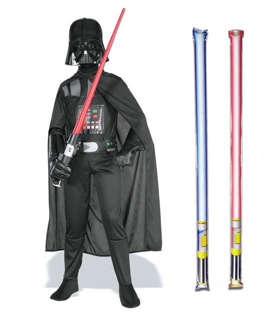 Star Wars Costume Basic Child - Darth Vader - WITH x2 FREE LIGHTSABERS