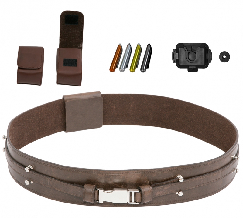Star Wars Mace Windu JEDI BELT BUNDLE - Belt - Pouches - Food Capsules - Covertec Belt Clip