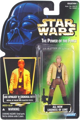 Star Wars Action Figure - Luke Skywalker in Ceremonial Outfit with Medal of Valor and Blaster Pistol