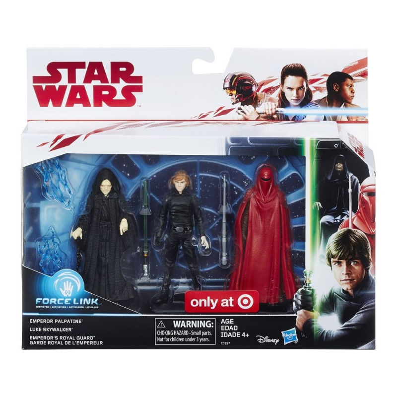 Star Wars Action Figure - Luke Skywalker Emperor Palpatine and Royal Guard - The Last Jedi