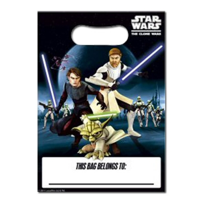 Star Wars Party Supplies - Clone Wars Loot Bags - Set of 8
