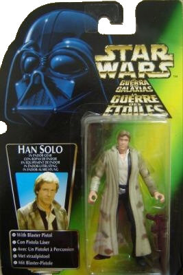 Star Wars Action Figure - Han Solo in Endor Gear with Blaster Pistol - Blue Pants