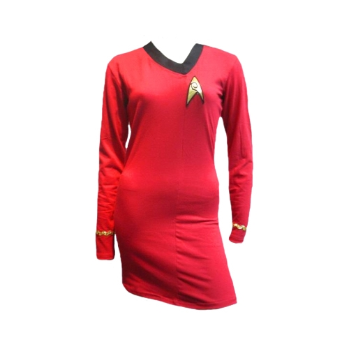 Star Trek Adult Costumes - Ladies Classic Uhura Red Dress