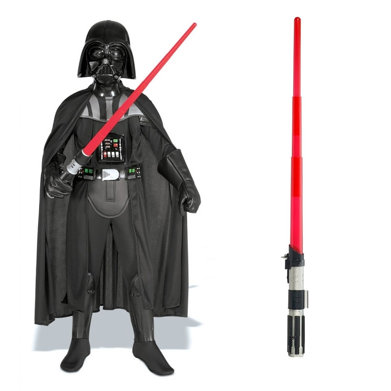 Star Wars Costume Child Lightsaber Bundle - Deluxe Darth Vader