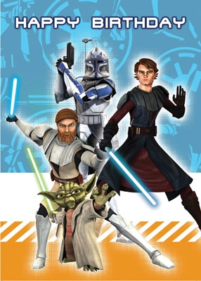 Star Wars Greeting Cards - 178 x 128mm - Clone Wars - Birthday - SW358