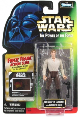 Star Wars Action Figure - Han Solo with Carbonite Block - Freeze Frame Action Slide