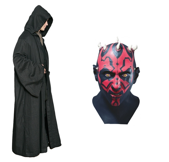 Star Wars Costume Adult - Black Robe and Darth Maul Mask