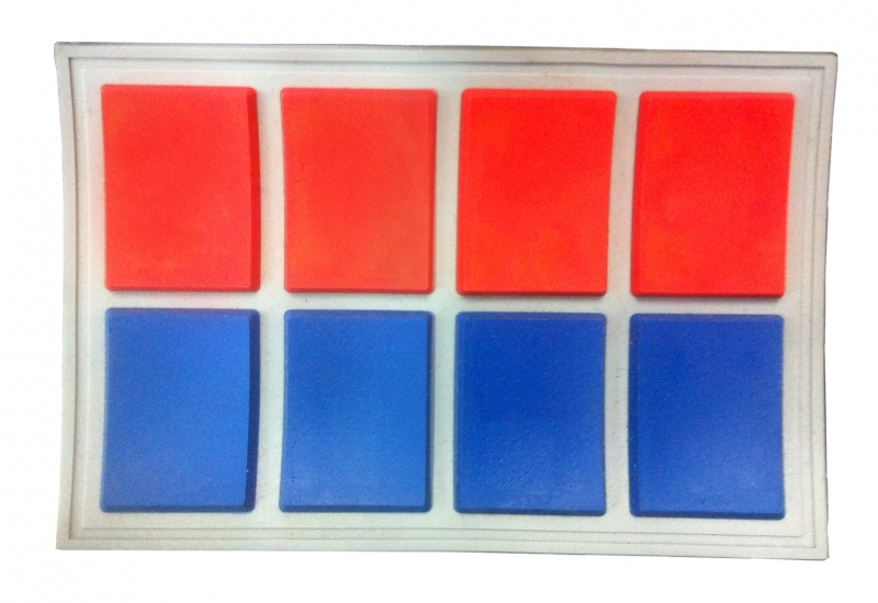 Imperial Officer Ranking Bar - Red and Blue x 4 - Major