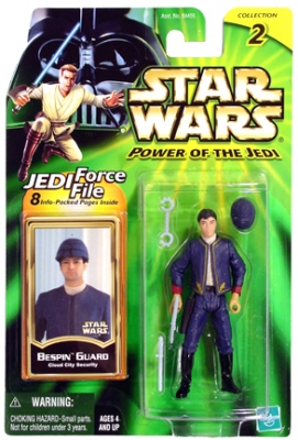 Star Wars Action Figures - Bespin Guard Cloud City Security - Power of the Jedi