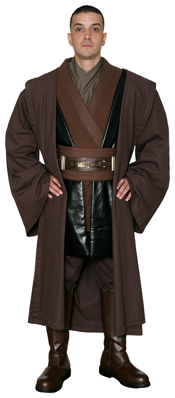 star wars anakin skywalker jedi knight costume body tunic with replica dark brown jedi