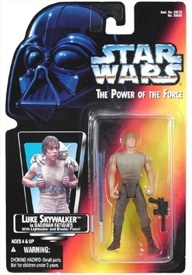Star Wars Action Figure - Luke Skywalker in Dagobah Fatigues / Saber / Pistol with Short Lightsaber