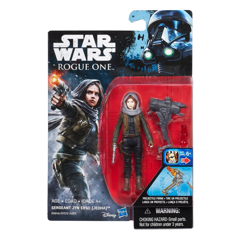 Star Wars Action Figure - Rogue One - Star Wars Universe - Sergeant Jyn Erso - Jedha