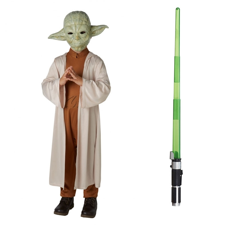 726f81e8496e Star Wars Costume Child Lightsaber Bundle - Yoda