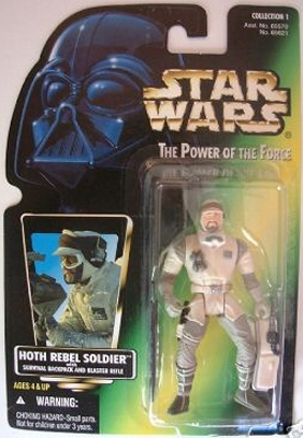 Star Wars Action Figure - Hoth Rebel Soldier with Survival Backpack and Blaster Rifle