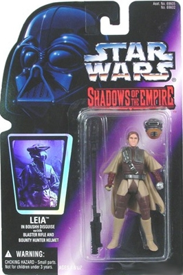 Star Wars Action Figure - Leia in Boushh Disguise with Blaster Rifle and Bounty Hunter Helmet - Shadows of the Empire