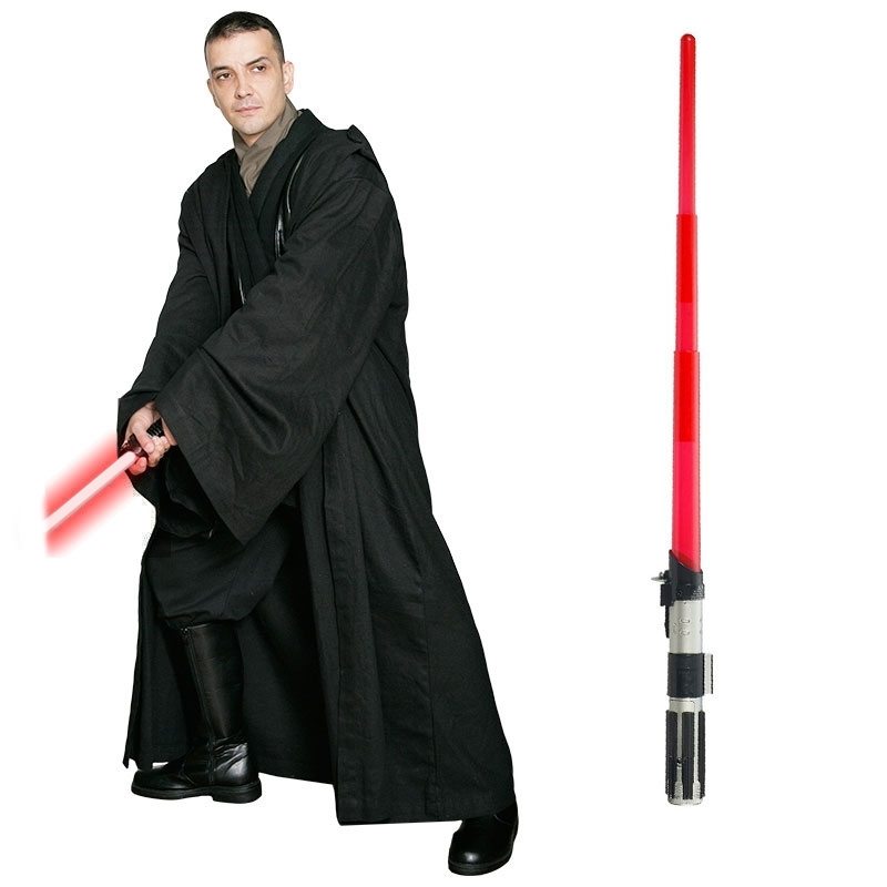 Star Wars Costume Adult Lightsaber Bundle - Black Sith Robe