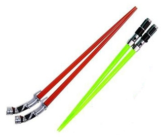 Star Wars Chopsticks - SPECIAL OFFER: Duelling Pack Lightsaber Chopsticks - Yoda vs Count Dooku