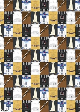 Star Wars Gift Wrap and Tags - Character Squares & STAR WARS : Costumes and Toys : Star Wars Gift Wrap and Tags ...