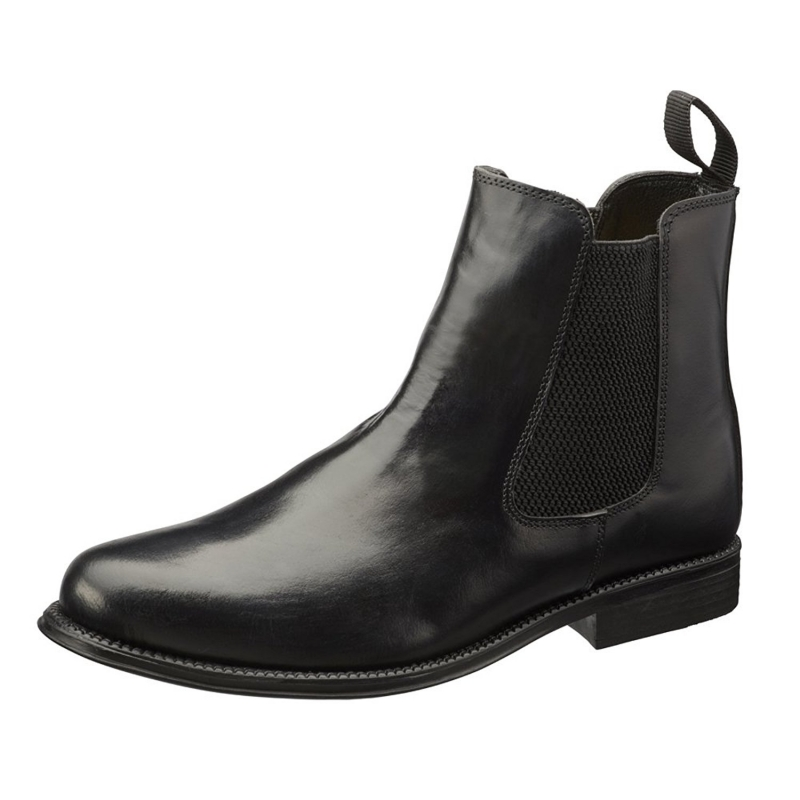 Shadowtrooper Ankle Boots Black Leather - Great Value
