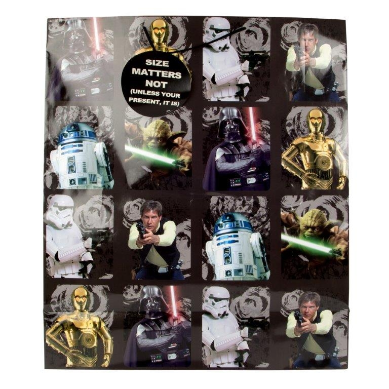 Star Wars Large Gift Bag - Original Trilogy Character Squares