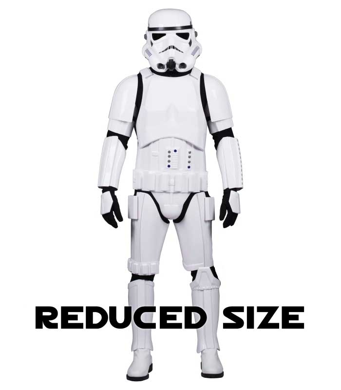 Star Wars Stormtrooper Costume Armour Fully Strapped with Soft Parts -  REDUCED SIZE