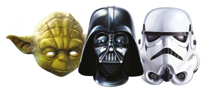 Star Wars MASKS - Character Mask Party Pack 4 - 1 x Yoda - 1 x Stormtrooper - 1 x Darth Vader