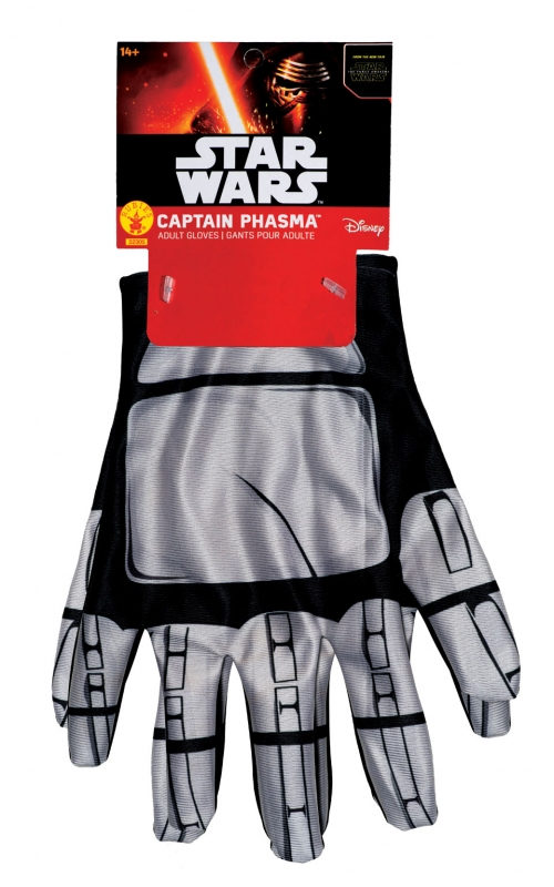 Star Wars Costume - The Force Awakens - Captain Phasma Gloves - Adult
