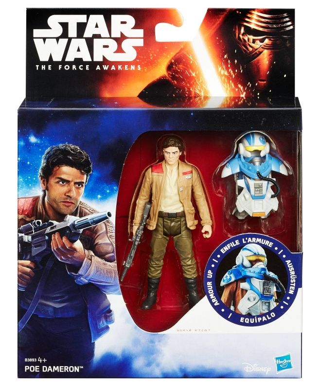 Star Wars Action Figure - The Force Awakens - Jungle Space - Armour Up - Poe Dameron