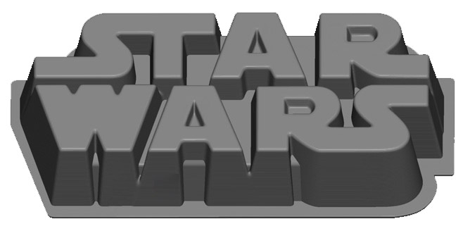 Star Wars Gifts and Games - Star Wars Logo Baking Tray - Silicone