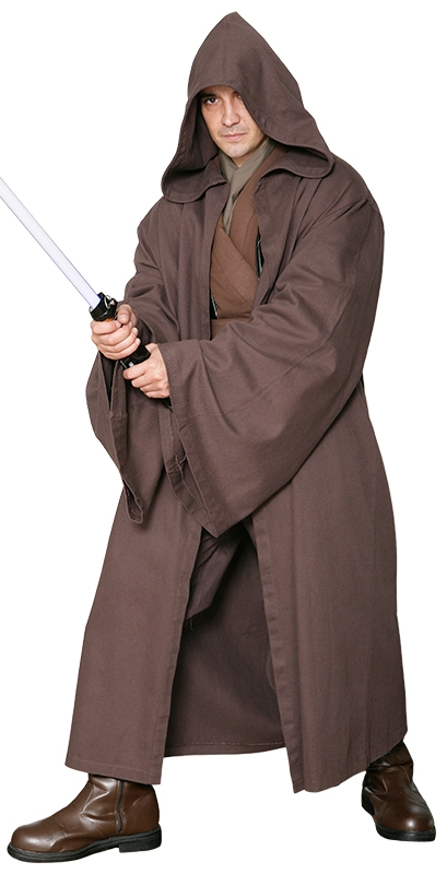 star wars costumes and toys star wars jedi knight jedi robe only dark brown excellent. Black Bedroom Furniture Sets. Home Design Ideas