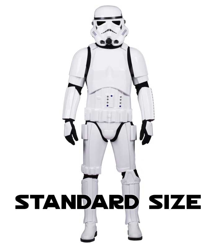 Star Wars Stormtrooper Costume Armour Fully Strapped with Soft Parts -  STANDARD SIZE