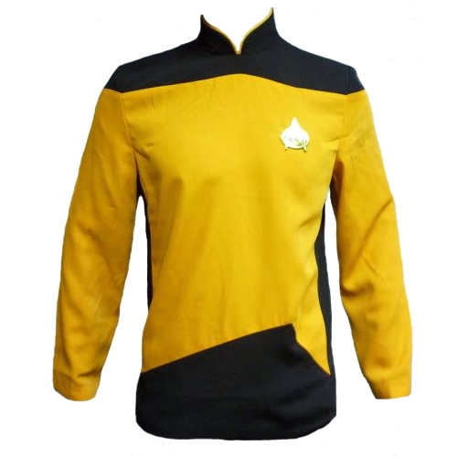 Star Trek Adult Costumes - The Next Generation Yellow Tunic