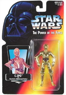 Star Wars Action Figure - C-3PO with Realistic Metalized Body