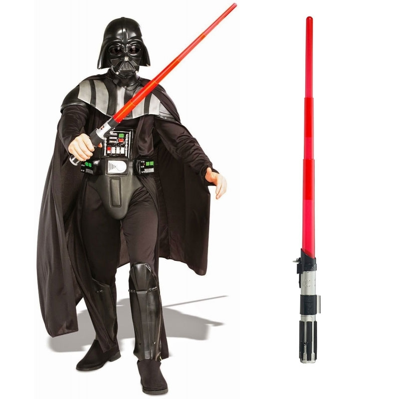 Star Wars Costume Adult Lightsaber Bundle - Deluxe Darth Vader