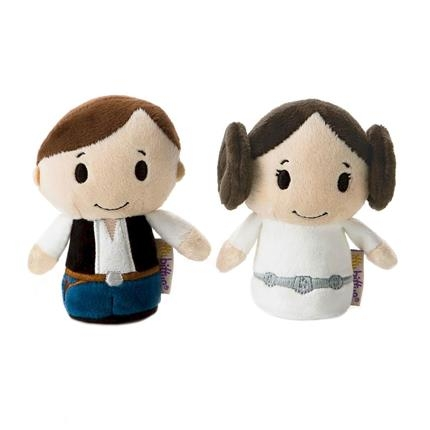 Star Wars Gift Itty Bitty Collectable Plush Set - Han Solo and Princess Leia