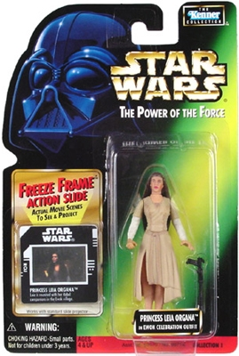 Star Wars Action Figure - Princess Leia Organa in Ewok Celebration Outfit - Freeze Frame Action Slide