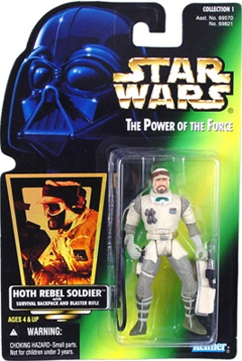Star Wars Action Figure - Hoth Rebel Soldier with Survival Backpack and Blaster Rifle - Hologram