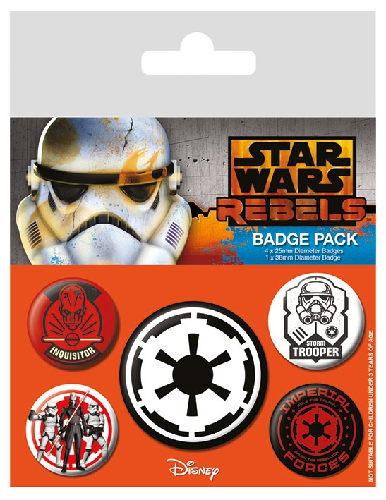 Star Wars Gifts and Games - Pin Badges 5-Pack - Villains