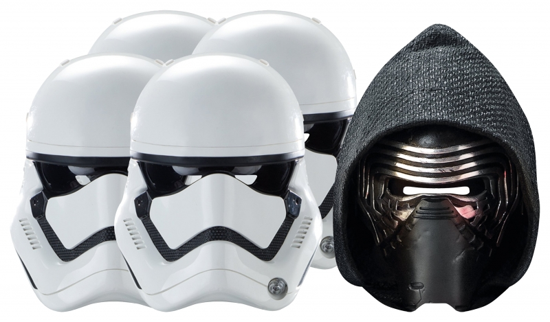 Star Wars MASKS - Character Mask Party Pack 6 - 4 x First Order Stormtrooper - 1 x Kylo Ren