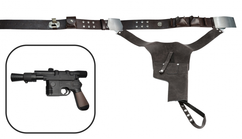 SPECIAL OFFER - Custom Painted Replica Han Solo Blaster DL-44 - with Replica Belt and Holster